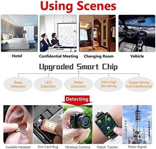 Hidden Camera Detectors-Anti Spy RF Detector Wireless Bug Detector Signal for Hidden Camera Laser Lens GSM Listening Device Finder Radar Radio Scanner Wireless Signal Alarm