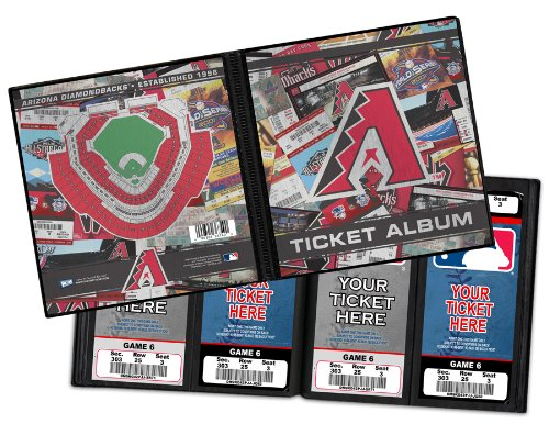 Arizona Diamondbacks Ticket Album, Holds 96 Tickets