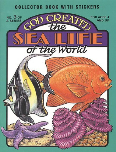 God Created the Sea Life of the World (Sticker and Coloring Book)