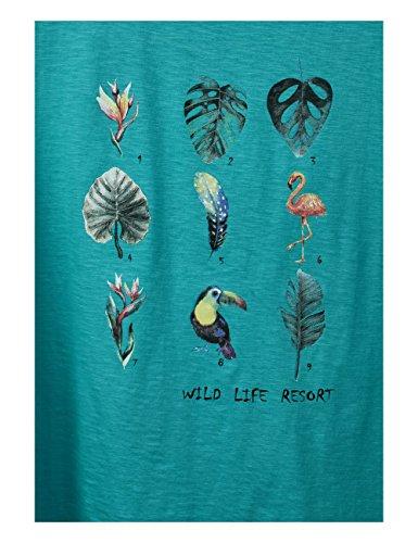Street T Aqua One 21345 Donna sunny shirt Multicolore g1pgxT