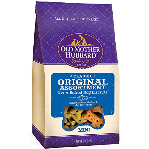 Old Mother Hubbard Classic Crunchy Natural Dog Treats, Original Assortment Mini Biscuits, 5-Ounce ()