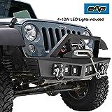 #1: EAG 07-18 Jeep Wrangler JK KG-7 Shark Stubby Front Bumper With 4x12w LED Lights