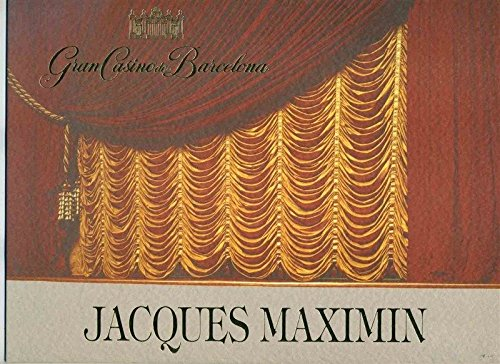 Gran Casino de Barcelona Menu Dinner for Grand Chef Jacques Maximin 1991