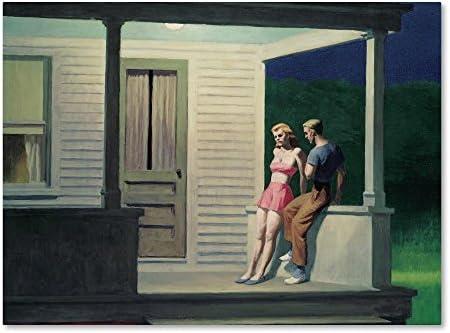 Summer Evening Canvas Wall Art