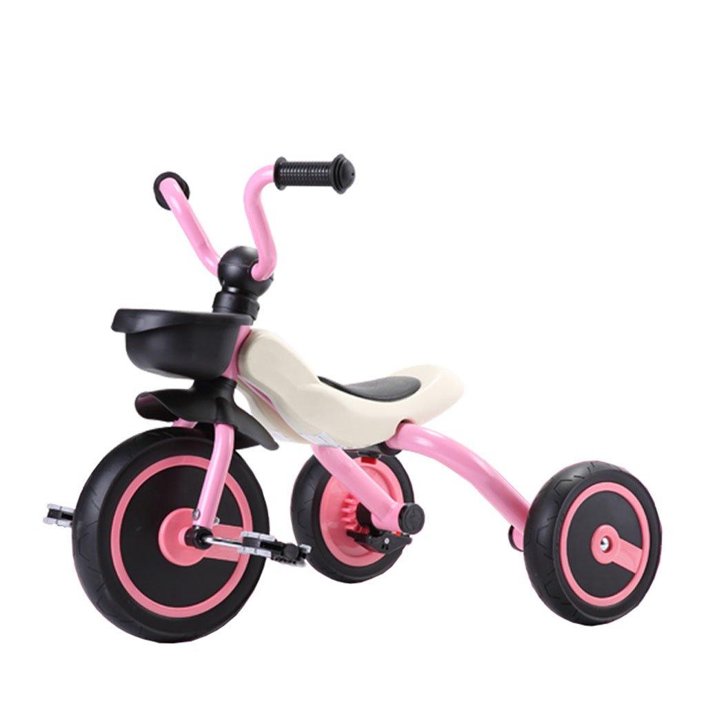 CGN子供の自転車、子供の学生の赤ちゃん折りたたみ式の赤ちゃんキャリッジライト自転車三輪車 soft B07CMRWSYX ピンク ぴんく ピンク ぴんく