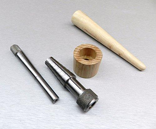 RATHBURN RING STRETCHER SIZER & RING MANDREL WOOD TAPERED JEWELRY MAKING TOOLS (E 3)