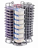 coffee pod holder tassimo - EXZACT EX-TS084-52 Tassimo Coffee Capsule Holder (52pcs) – Rotating Pod Tower Rack