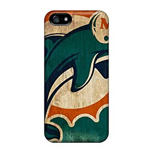 Great Hard Cell-phone Cases For Iphone 5/5s With Provide Private Custom Fashion Miami Dolphins Pattern JasonPelletier