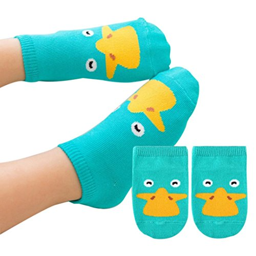 63f7dcb2357b CocoMarket Baby Infant Socks Newborn Cotton Boys Girls Cute Cartoon Toddler  Anti-slip Socks (S, Green)