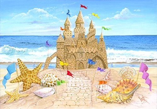 Seaside Castle - Heritage Seaside Palace Jigsaw Puzzle - 550 Pieces - Grand Sand Castle