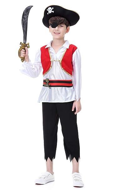 b62cbd522d24 Hsctek Boys Pirate Costume, Kids Pirate Role Play Dress-up set With Hat,
