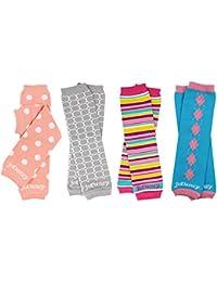 4-pack Organic baby & toddler leg warmers gift set for boys & girls