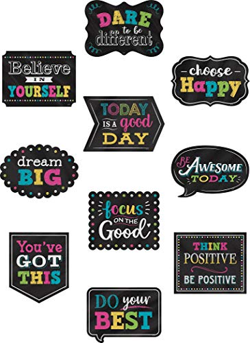 (Chalkboard Brights Positive Sayings Accents)
