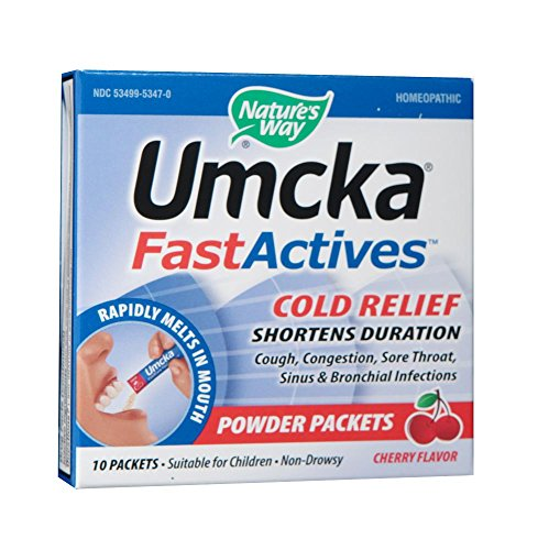 Nature's Way Umcka FastActives ColdCare, Cherry, 10 Count