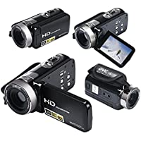Mini DV 24MP High Definition Digital Video, Camcorder DVR 3 TFT LCD 16x Zoom Hd Video Recorder Camera 1080P Digital Video Camcorder (Black)