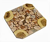 Wooden Trivet for Hot Dishes - Handmade Mosaic - Big Coaster - 6 Sorts of Wood - Natural Smell - Unique Art Decor in the Kitchen - Made by SPL Woodcraft Ukraine