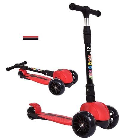 SLC Scooter de Tres Ruedas para niños Rueda de Flash de la PU Scooter para niños