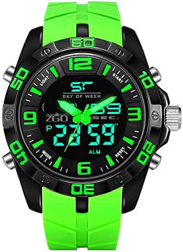 Sports waterproof dial digital watch/Fashion simple light middle school students watch-A