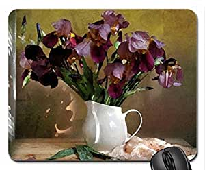 Still life Mouse Pad, Mousepad (Flowers Mouse Pad, Watercolor style)