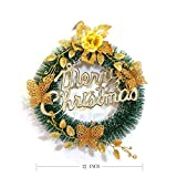 Christmas Wreath Garland Decoration Gold Spruce 12-inch (Small Image)