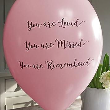 Angel & Dove Globos de condolencia con texto en inglés You are ...