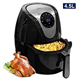 Uten Fryers 4.5L Air Fryer with Detachable Basket,Timer and Fully Adjustable Temperature Control for Healthy Oil Free & Low Fat Cooking,1400W, 4.5L Pan with 3.2L Basket