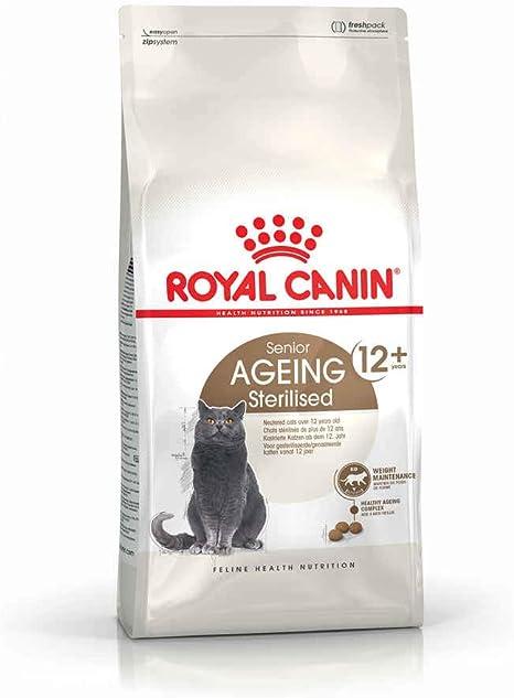Royal Canin Comida para gatos Sterilised +12 2 Kg: Amazon.es ...