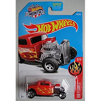 Hot Wheels 2020 HW Flames '32 Ford 146/365, Red: Toys & Games
