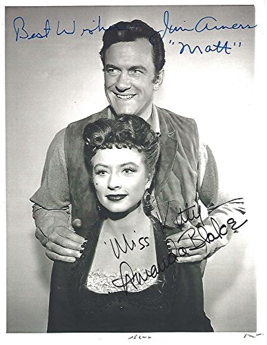Signed by JAMES ARNESS as MATT DILLON and AMANDA BLAKE as MISS KITTY from
