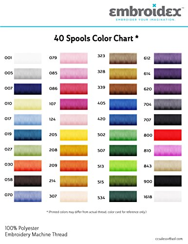 Amazon 40 Spools Polyester Embroidery Machine Thread Home