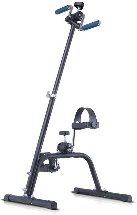 Bicicleta estática Ejercitador de brazos y piernas - Máquina para hacer ejercicio con brazos y piernas - Ejercitador de pedal portátil - Equipo de ejercicios para personas mayores y ancianos: Amazon.es: Hogar
