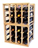 24 Bottle Modular Stackable Wine Rack Stack As Many Sets Together (4 Sets = 96 Bottle Capacity)