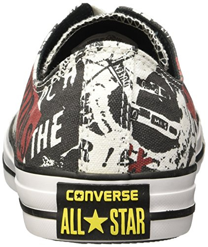 Converse Unisex Adults' Chuck Taylor All Star C151195 Low-Top Sneakers White (White/Black/Red) Q9mgG