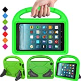 BMOUO Case for All F i r e 7 2017 - Light Weight Shock Proof Handle Kid –Proof Cover Kids Case for All F i r e 7 Tablet, Green