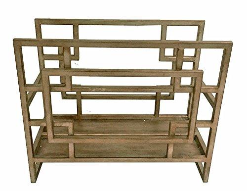 KensingtonRow Home Collection Magazine Holders - Oak Park Geometric Magazine Rack