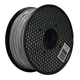 3D Printer ABS Filament 1.75mm 1KG Spool - Silver / Grey - Compatible with Printrbot, MakerBot, MakerGear and Many Other Printers