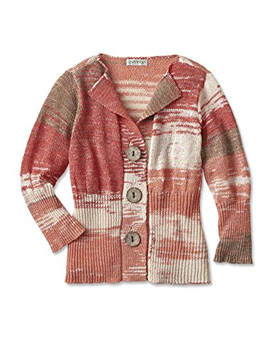 Orvis Sunset Space-dyed Cardigan, Coral Multi, Medium