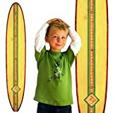 Growth Chart Art | Wood Surfboard Growth Chart for Boys & Girls | Baby Shower Gift | Classic Cream Longboard