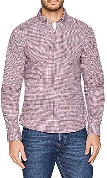 El Ganso Popelin Microvichy Bicolor Camisa Casual para Hombre