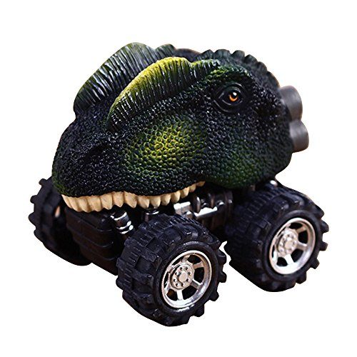 Monster Model Mini Dinasour Warrior Car Toy for Kids Children (Dragon Lizard, Warrior Car) (Center Benz Mercedes Truck)