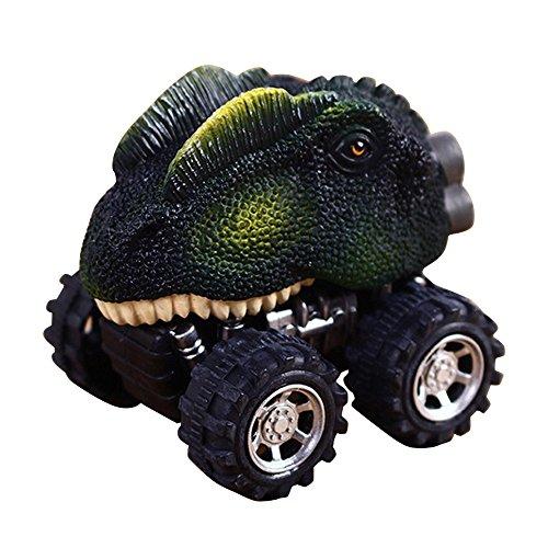 Monster Model Mini Dinasour Warrior Car Toy for Kids Children (Dragon Lizard, Warrior Car) (Center Truck Benz Mercedes)
