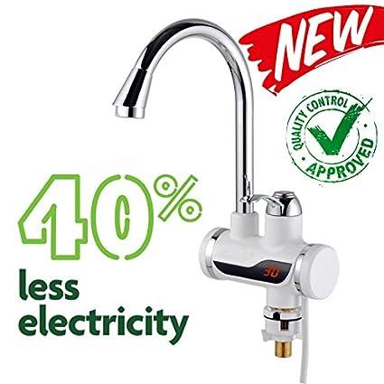 EuroQuality Instantánea Sin Tanque Calentador Eléctrico de Agua Caliente Grifo de la Cocina de Calentamiento Instantáneo