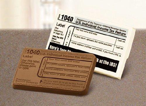 - Chocolate Chocolate 310599 2 in. x 3 in. IRS Mini 1040 Chocolate Bar in Printed Box