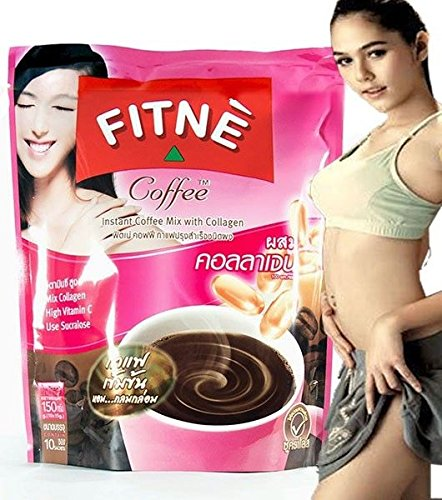 Fitne 3 in 1 Instant Coffee Mix with Collagen Slimming Weight ()