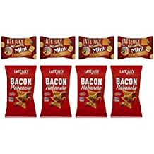 Late July Organic Non-GMO Snack Variety Pack: (4) Cheddar Cheese Minis, 1.125 oz & (4) Bacon Habanero Chips 2oz (Pack of 8)