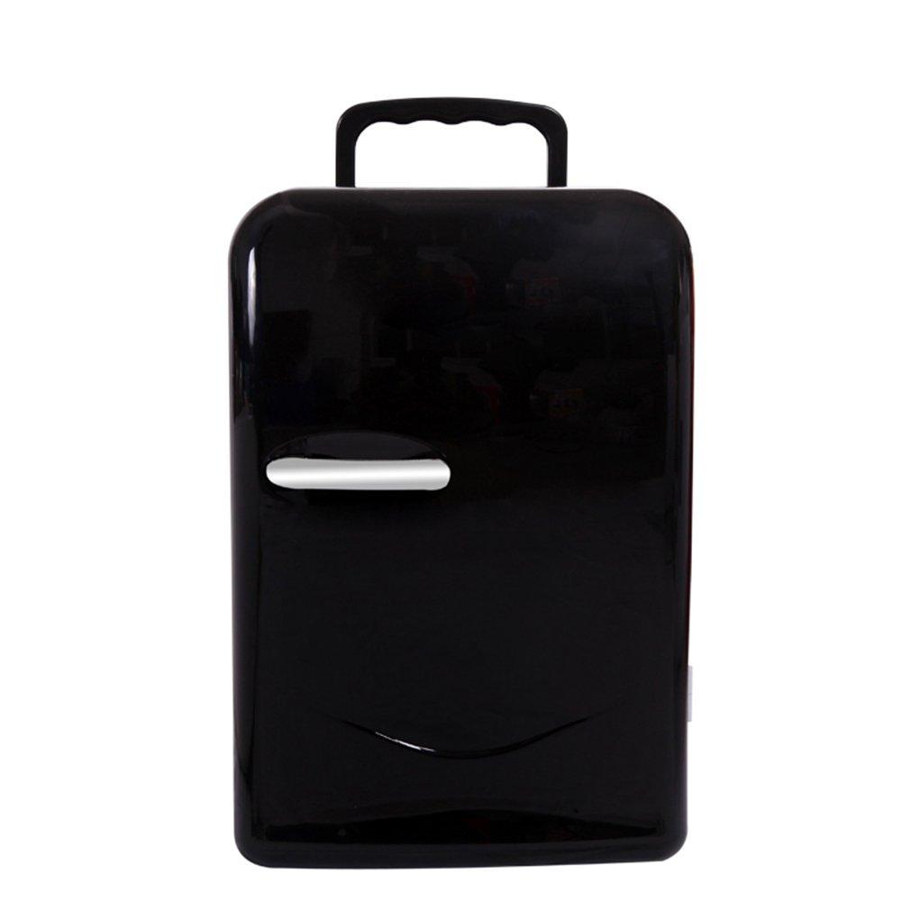 LIQICAI 20L Elektrische Kühlbox Minikühlschrank Heizung Kühlung 12V DC (Auto)/220V AC (Zuhause), Türgriff Einfacher Schwenk-Tragegriff (Farbe : SCHWARZ)