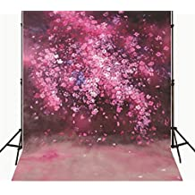 5x7 Photography Background for Babies Small White Flowers Newborn Pink Photography Backdrop Gothic Thick Material No Wrinkle