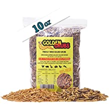 Golden Grubs 5oz Dried Black Soldier Fly Larvae 5oz Dried Mealworms BSF Balanced Diet Combo (10oz)