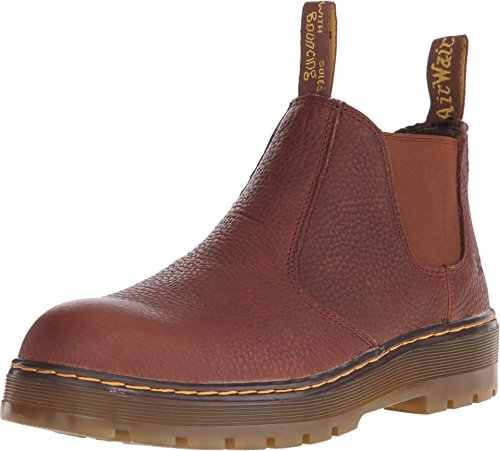 (Dr. Martens Men's Rivet Steel Toe Chelsea Boot,Teak Pitstop Leather,UK 7 M)