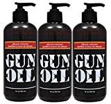 Gun Oil Premium Silicone Based Personal Lube Lubricant Fortified with Special Botanicals Safe for Toys. (+ Free Lubricant) : Net Wt 16 Oz (Pack of 3)